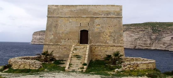 The Xlendi Tower on Gozo