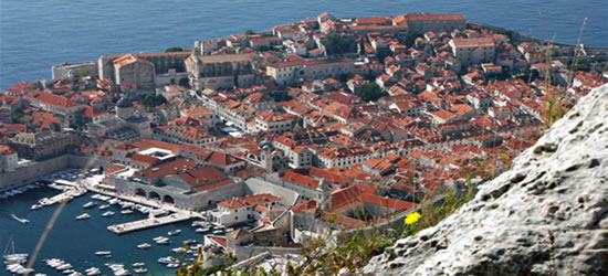 Elevated view of Dubrovnik