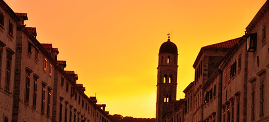 Sunset, Old Town of Dubrovnik