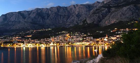 Makarska Riviera at Twilight