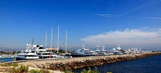Luxury Yachts of Antibes, South of France