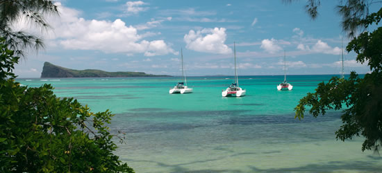 Catamarans at Anchor, Mauritius