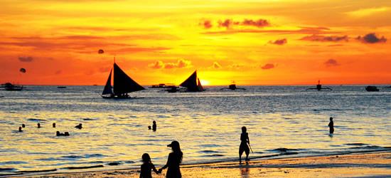 Breathtaking Sunset at Whitesands Beach