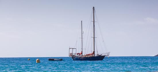 Ketch at Anchor, Cape Verdes