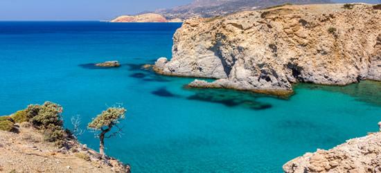 Beautiful Coastline near Tsigrado, Milos, Cyclades