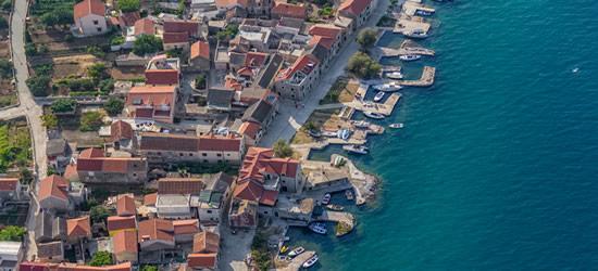 Aerial shot of Primosten