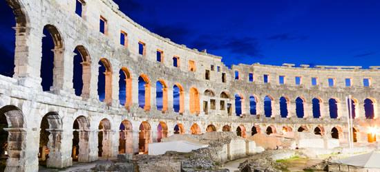 Roman Amphitheater at Twilight