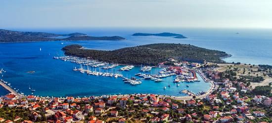Aerial view of Rogoznica & Marina