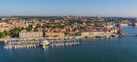 Aerial Photo of Pula Harbour