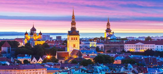 Amazing Sunset, Tallinn Estonia