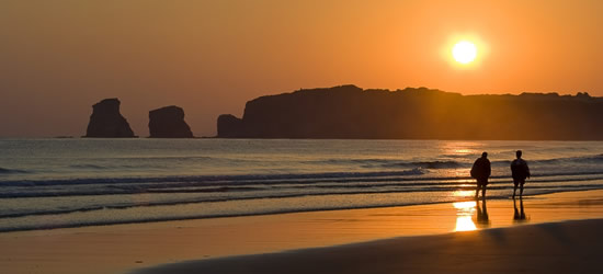 Evening Sunset, Hendaye, SW France