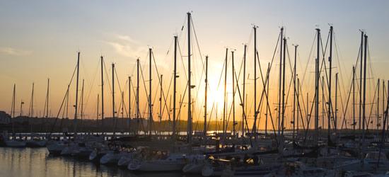 Sunset Nieuwpoort Marina
