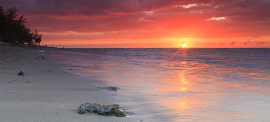 Beautiful Sunset on a Sandy Beach, Mozambique
