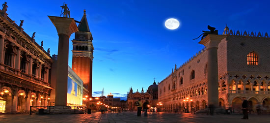 Full Moon at Piazza San Marco, Venice