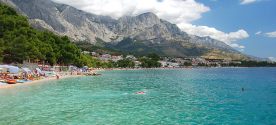 The Beaches and Turquoise Waters of Baska Voda