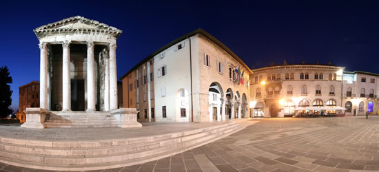 Panoramic view of the Forum, Pula