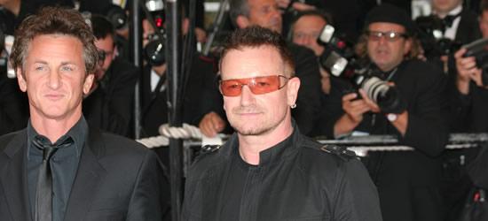 Sean Penn & Bono, Cannes