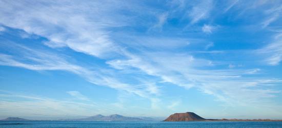 View to Isla de Lobos, Lanzarote
