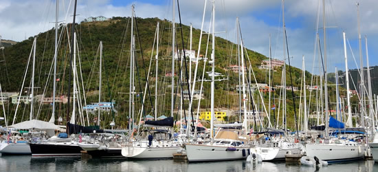 Yachts at Nanny Cay, Tortola, BVI