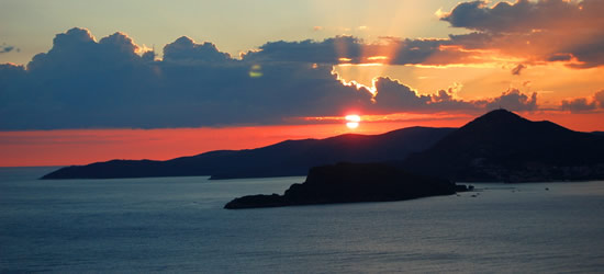 Sunset over Budva, Montenegro