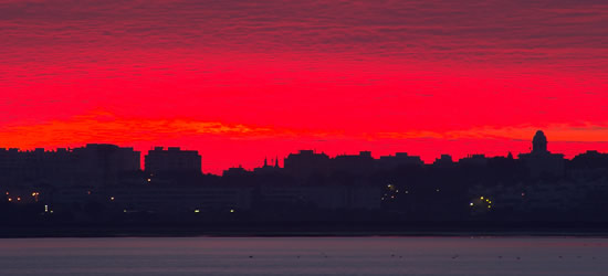 Dawn in the Bay of Cadiz