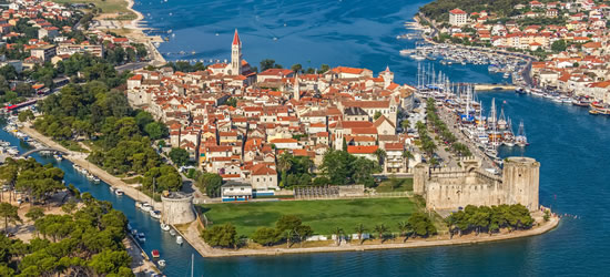 Aerial Photo of the Old Town, Trogir