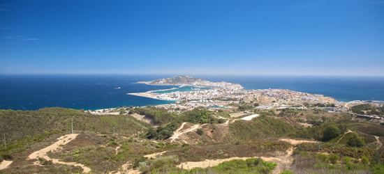 Elevated view of Ceuta, North Africa