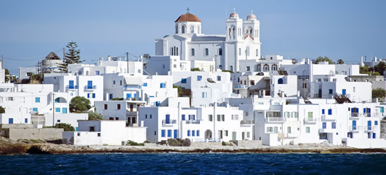 The Town of Naoussa, Paros the Cyclades region