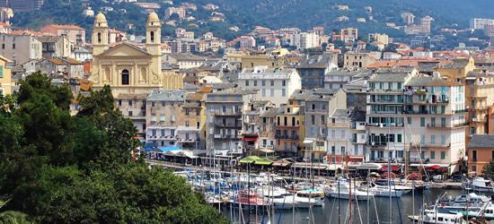 Elevated view of Bastia, Corsica