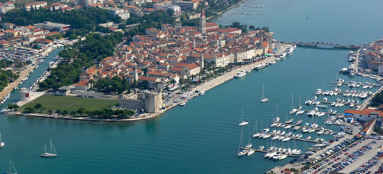 Aerial Photo of the Old Town & Port of Trogir