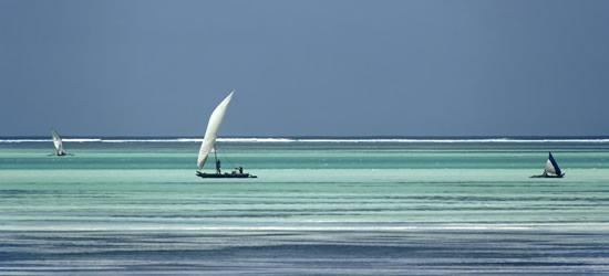 Boats near the Beach, Zanzibar
