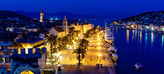 Ancient Town of Trogir at Night