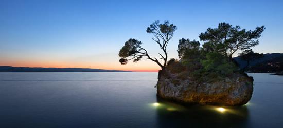 Sunset Kamen Brela, Baska Voda
