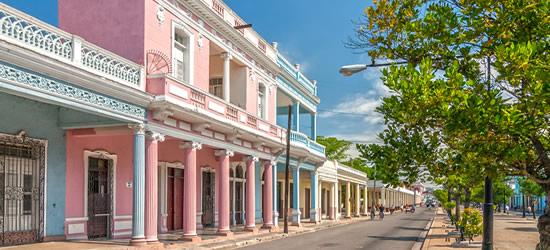 Pastel Coloured Buildings, Cienfuegos