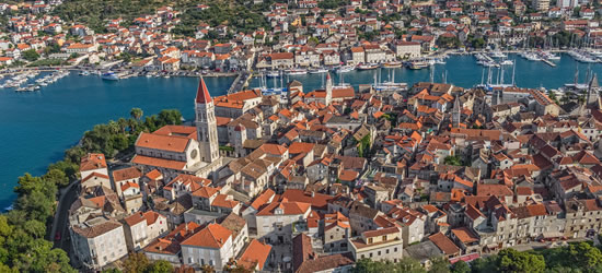 Aerial Panoramic view of the Old Town