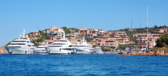 Mega Yachts of Sardinia